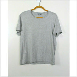 COS Short Sleeve Crew Neck Tee Gray Speckled